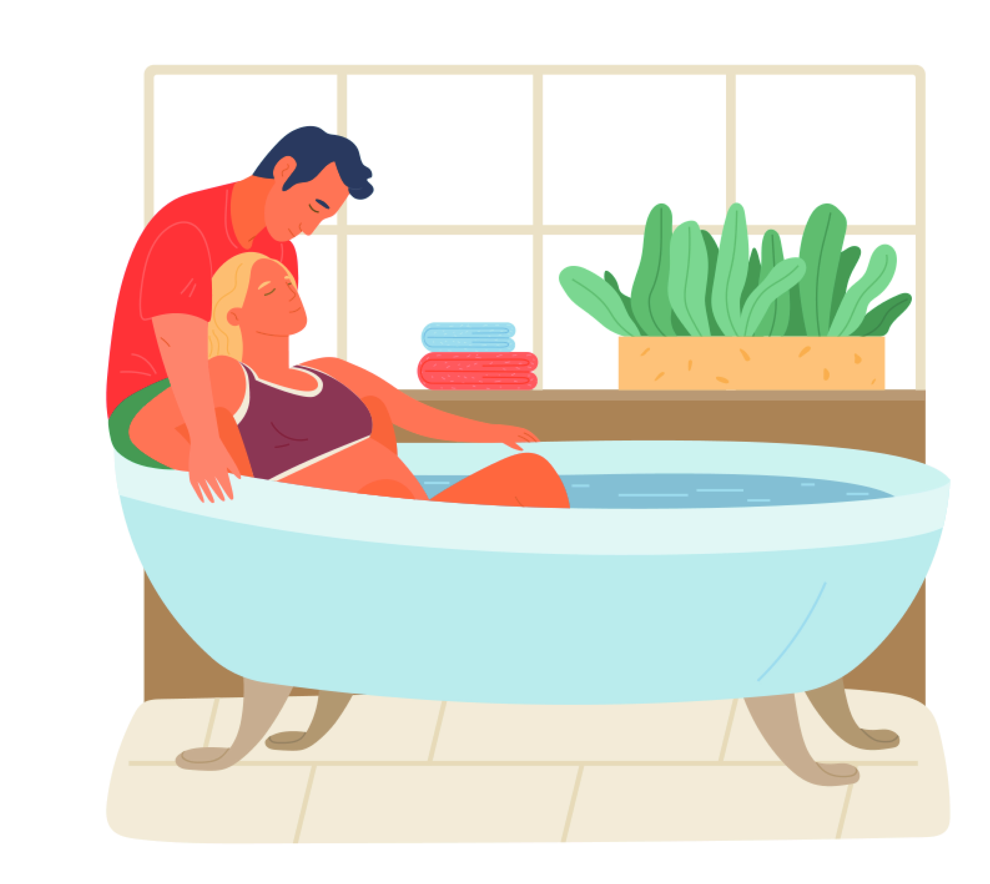 Bevallen in bad